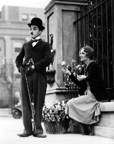 Charlie Chaplin and Virginia Cherrill in City Lights