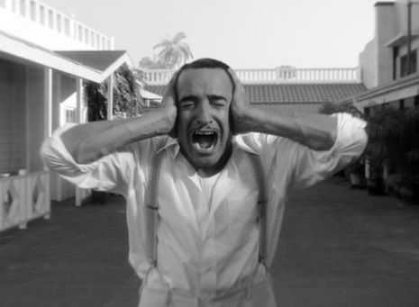 Sometimes it's all a little too much...Jean du Jardin as George Valentin