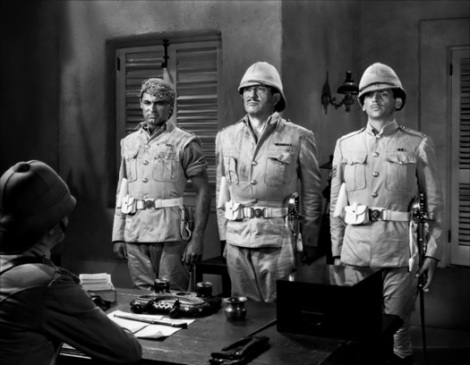Cary Grant, Victor McLaglen and Douglas Fairbanks, Jr. in GUNGA DIN