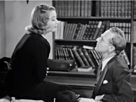 Lester Plum (Joan Blondell) tries to educate Atterbury Dodd (Leslie Howard) about the picture business.