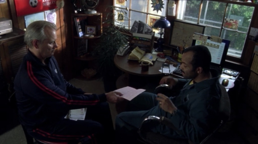 Bill Murray and Jeffrey Wright in BROKEN FLOWERS (2005)
