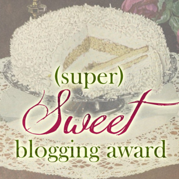 (super) Sweet blogging award