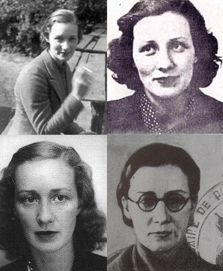 A few of the faces of courageous Marie Madeleine Fourcade, leader of the Alliance network in occupied France during World War II