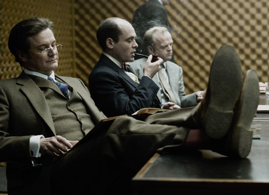 Colin Firth looking fine in a three-piece suit in TINKER TAILOR SOLDIER SPY  (2011)