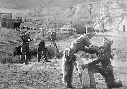 Gilbert Anderson Filming in the Rockies