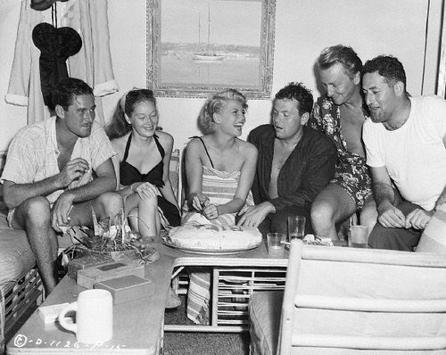Rita Hayworth Birthday Celebration on Yacht