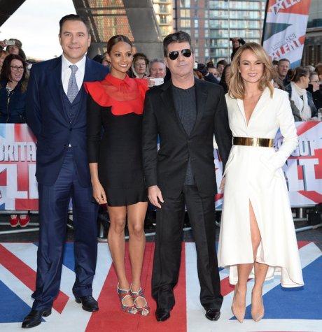 Britain's Got Talent judges David Wailliams, Alesha Dixon, Simon Cowell, and Amanda Holden